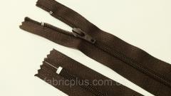 Молния обувная спиральная № 7 коричневая 20 см