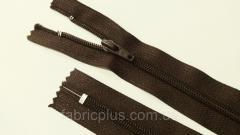 Молния обувная спиральная № 7 коричневая 25 см