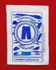 Краситель для ткани универсальный голубой