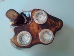 Chandeliers wooden |svetilnik dot wood ceiling-3