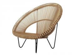 Лаунж-крісло Мун CRUZO натуральний ротанг,