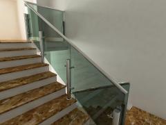 Перегородки стеклянные лестничные