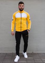 Жёлтый спортивный костюм Adidas мужской без