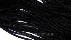Шнур п/п 4 мм черный с наполнителем