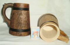 Деревянные бокалы ручной работы