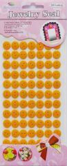 Пуговицы круглые апельсин 11 мм (2 уд.) на стикере
