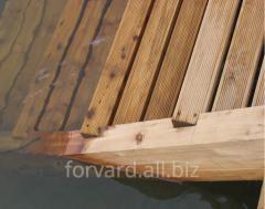 Larch bar of a log 95Х45Х4000