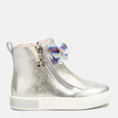 Ботинки для девочки Tom.M Серебристые на флисе