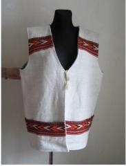 Design women's clothing, sleeveless jacket.