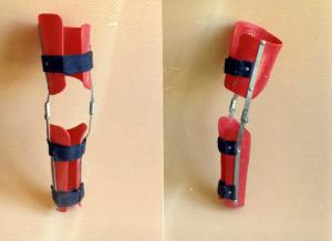 Orthoses on coxofemoral-knee joints bezsharnirny