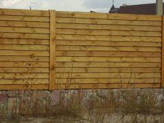 Заборы, деревянные заборы, заборы для дачи, установка