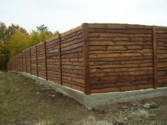 Заборы для дачи деревянные, заказать, Киев