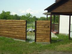 Заборы для коттеджей, заборы деревянные, установка заборов, цена, Киев