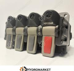 Свич 4 кнопки (4 отверстия) пневматический
