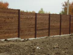 Ограды садовые из дерева, изготовление под заказ, Киев