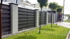 Забор из доски ПВХ (материал)