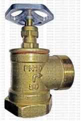 Кран пожарный Ду-50 латун. угл. вн/нар 90° (Укр.)