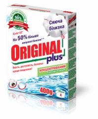 Бесфосфатный стиральный порошок Original plus, 400 г Сияющая белизна-производство, продажа оптовыми партиями по всем регионам Украины.