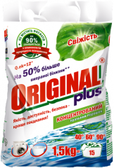 Бесфосфатный стиральный порошок Original plus, 1,5 кг Фиалка/Орхидея/Свежесть. Производство,  продажа оптом.