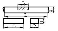 Стержни квадратные и прямоугольные