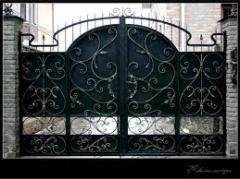 Ворота кованые металлические