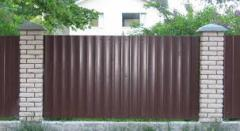 The fence is metal galvanized