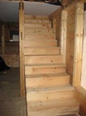 Wooden windows, doors, steps under the order