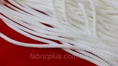 Шнур п/э белый 5 мм с наполнителем вязаный
