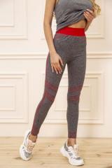 Лосины женские 129R829-1 цвет Серо-красный