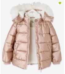 Куртка-пуховик рожева для дівчинки Verbaudet