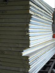 Sandwich panel of PPS (expanded polystyrene)