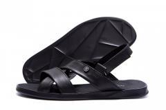 Мужские кожаные сандалии VanKristi Black