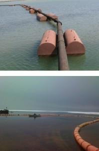 Slurry pipelines. Floating and coastal slurry