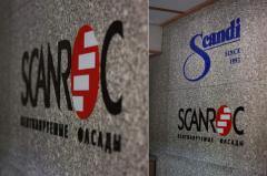 Letters on a wall, registration of office, design,