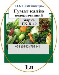 Садовые удобрения Гумат калия в литровой упаковке.