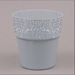 Пластмассовый горшок РОССА серый 14.5