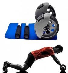 Тренажер гимнастический ролик с возвратом Power