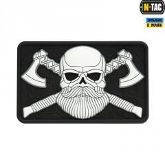 Нашивка ПВХ M-Tac Bearded Skull 3D (Black/White)