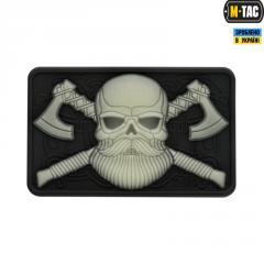 Нашивка ПВХ M-Tac Bearded Skull 3D светонакопитель