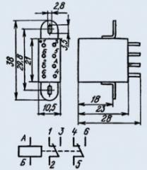 Реле РЭС-48Б ОС РС4.590.201
