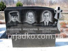Образцы памятников на могилу, Изготовление памятников из гранита
