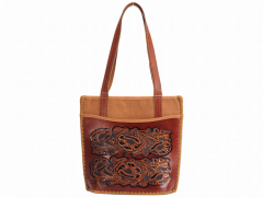 Women bag of handwork from genuine leather