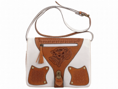 Handwork women bag from genuine leather of a bull