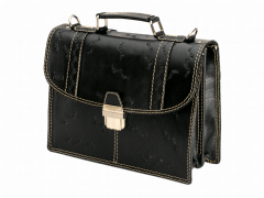 Men's briefcase from genuine leather