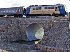 Укрепление мостов габионами   Укрепление опор