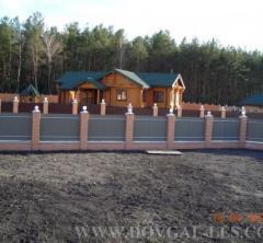 Cottages wooden inhabited of bar