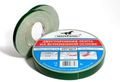 Bilateral adhesive tape on the made foam basis