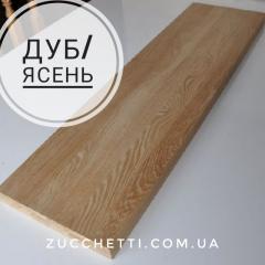 Деревянный подступёнок дуб 800 х 200 х 20 мм.