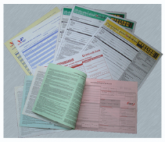 The self-copied forms.