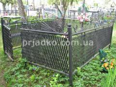 Установить ограду на могилу, где заказать ограду, как заказать ограду, изготовление оград